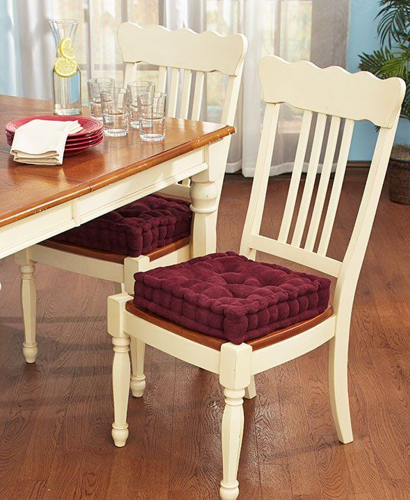 Add Extra Comfort And Support To A Kitchen Or Dining Room Chair Inspiration Seat Cushion For Dining Room Chairs Decorating Inspiration