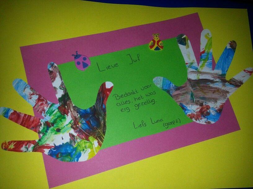 Vaak Afscheid juf psz   Crafts kids / knutselen - DIY, School en Painting &ZF77