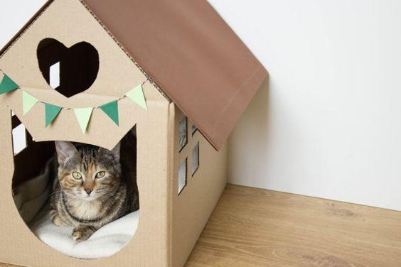 Идеи домик для кота своими руками
