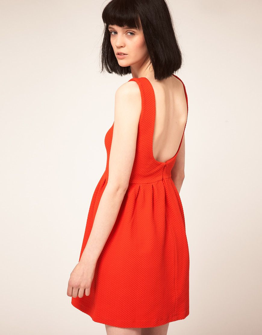 Red dress stylelikethis pinterest red waffle and gold