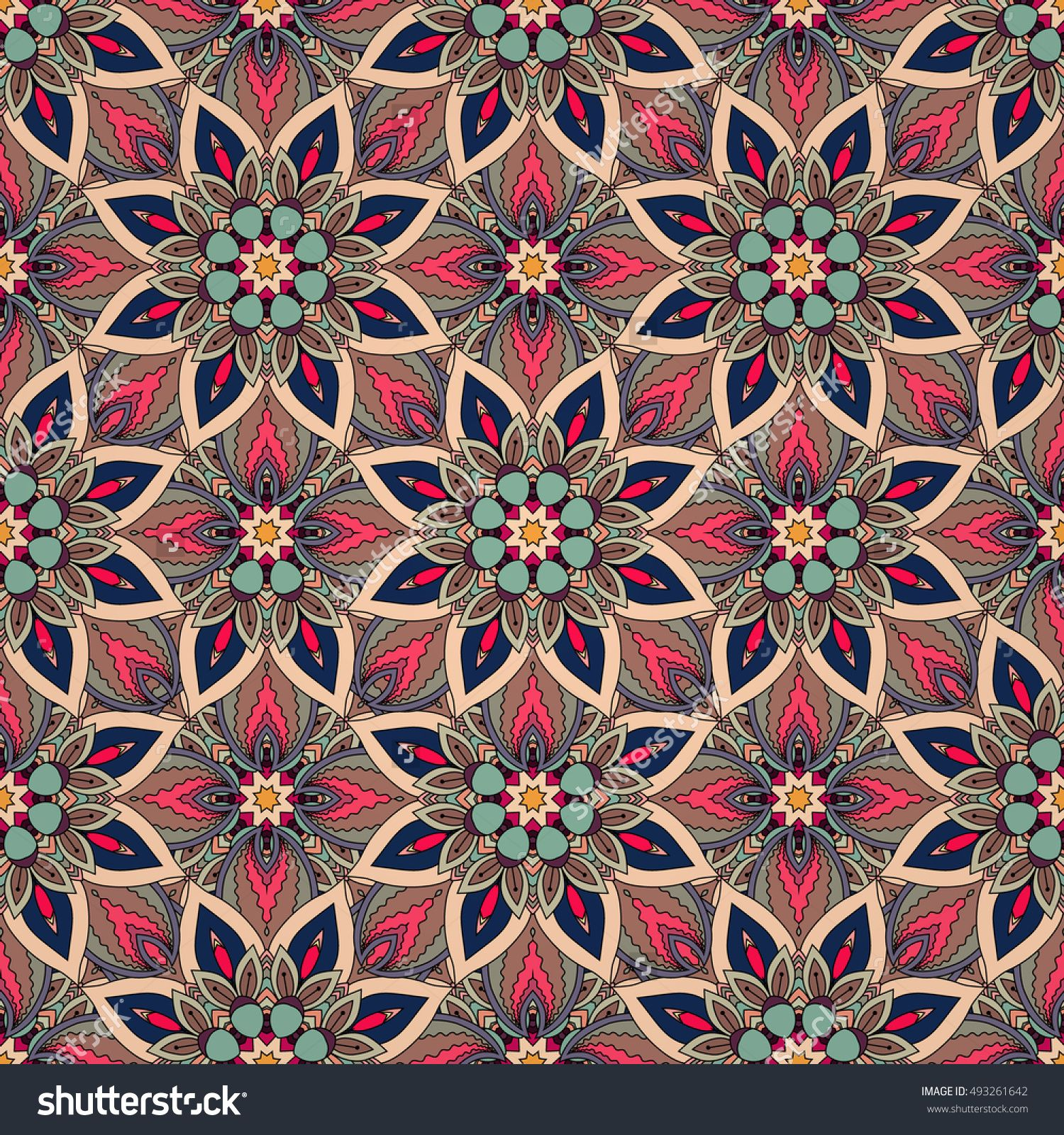 Ornate Floral Seamless Texture Endless Pattern With Vintage