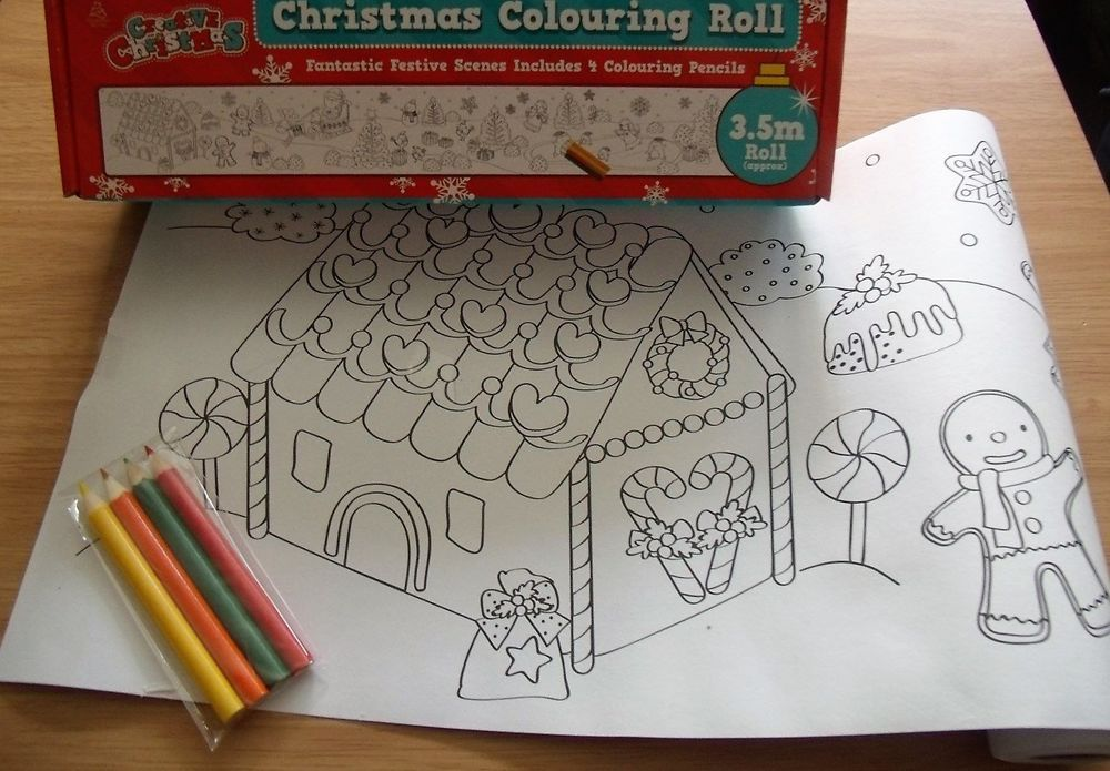 Christmas Colouring Roll Trend