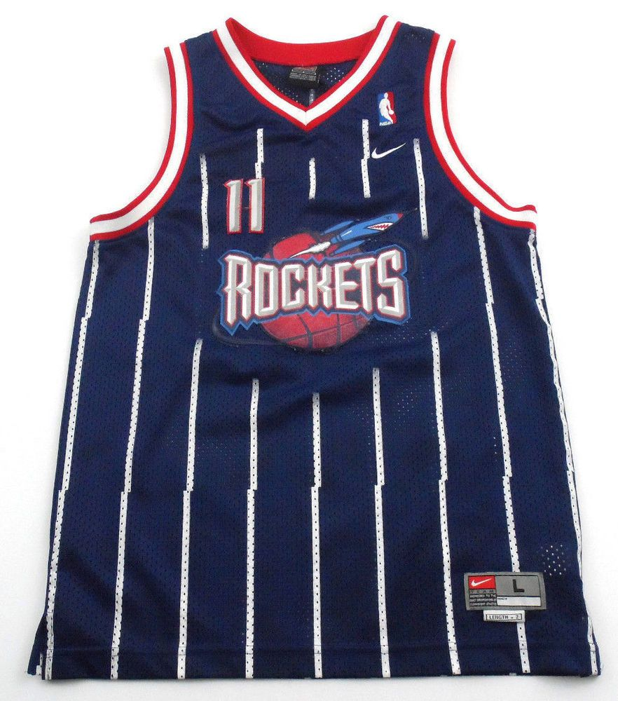 huge discount bc859 2f8d7 Yao Ming Nike Houston Rockets Jersey NBA Sewn Pinstripe Boys ...
