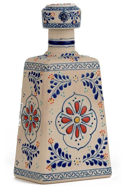 La Cofradia Reposado Tequila  Talavera Bottle  Liquor