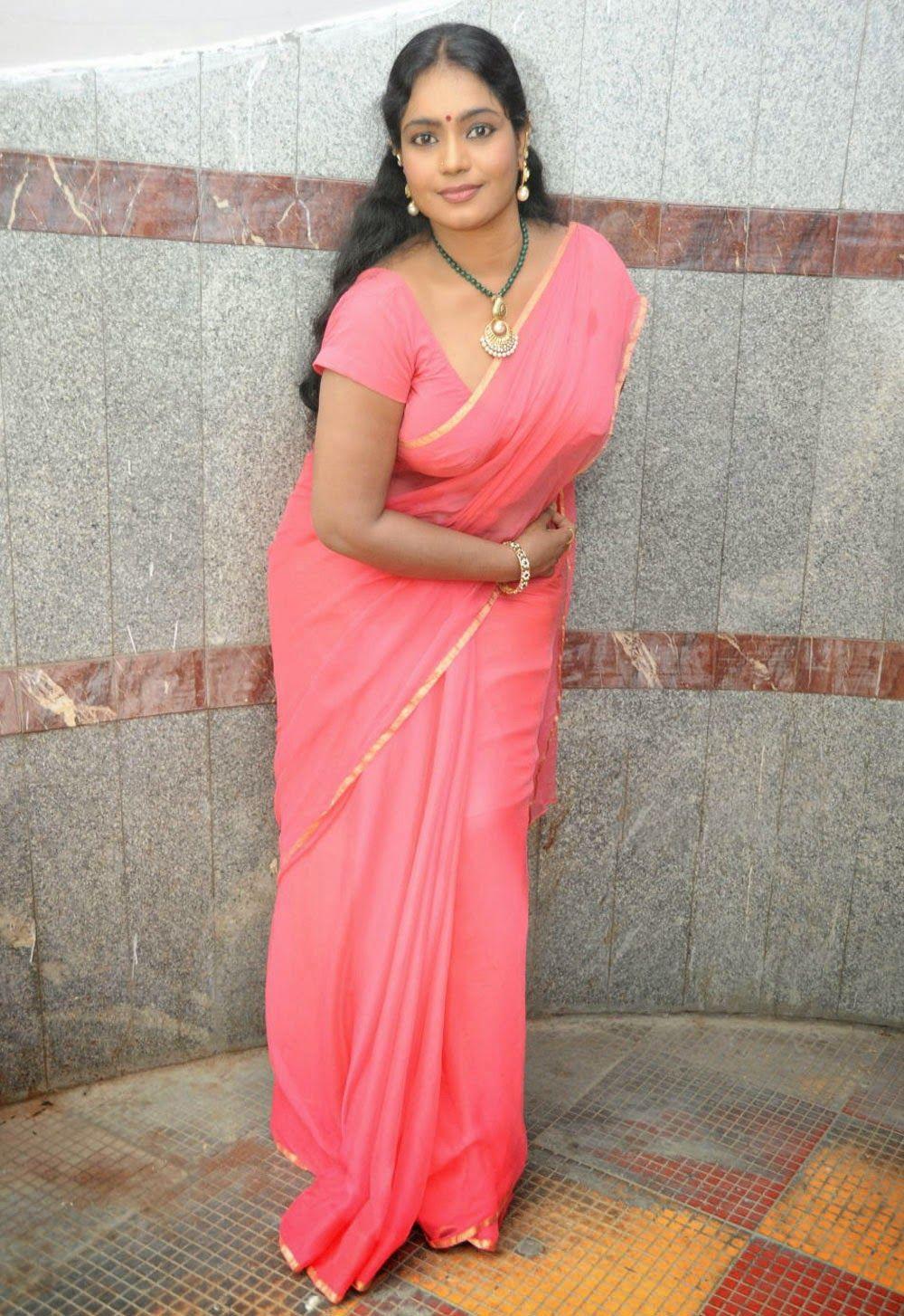 Jayavani Hot Saree Stills at Rajmahal Movie Launch ...