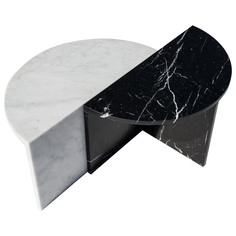 Black And White Pair Of Marble Coffee Tables Sebastian Scherer Marble Furniture Contemporary Coffee Table Unique Coffee Table