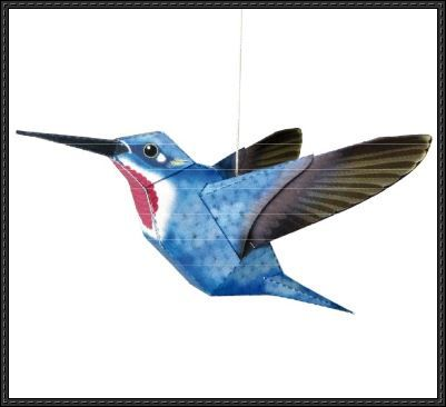 New paper craft animal paper model hummingbird free template free paper humming bird toys new paper craft animal paper model hummingbird free template maxwellsz
