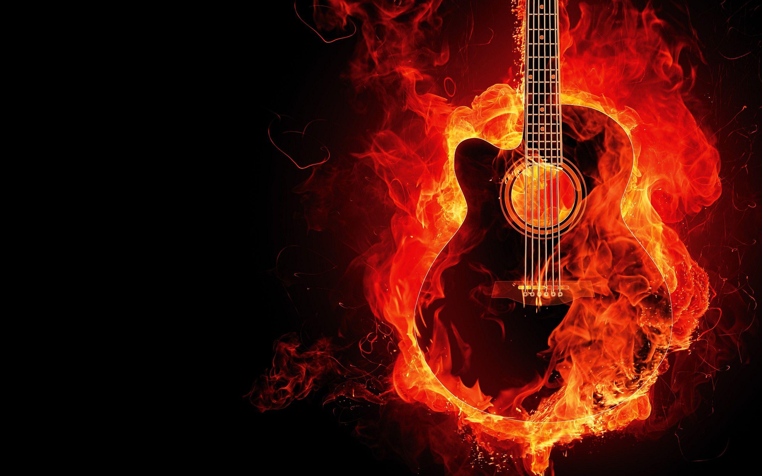 fire guitar art 21270