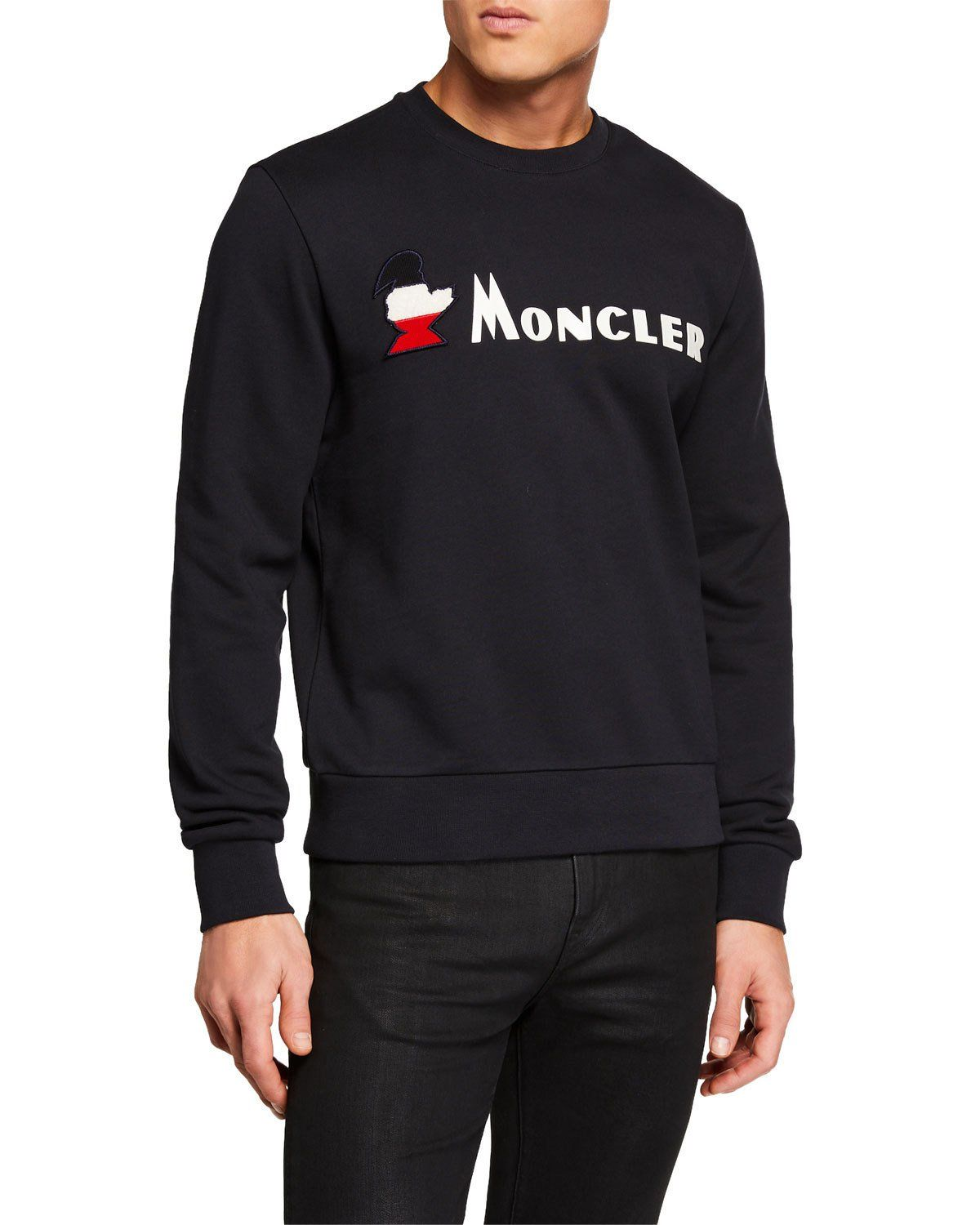 cloth Moncler Maglia Girocollo Shirt Sleeve Men's moncler Long WSS0qrRvw