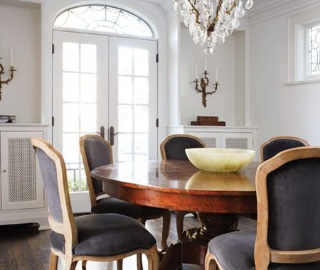 Irregular Dining Room Table and chairs, Home and White walls