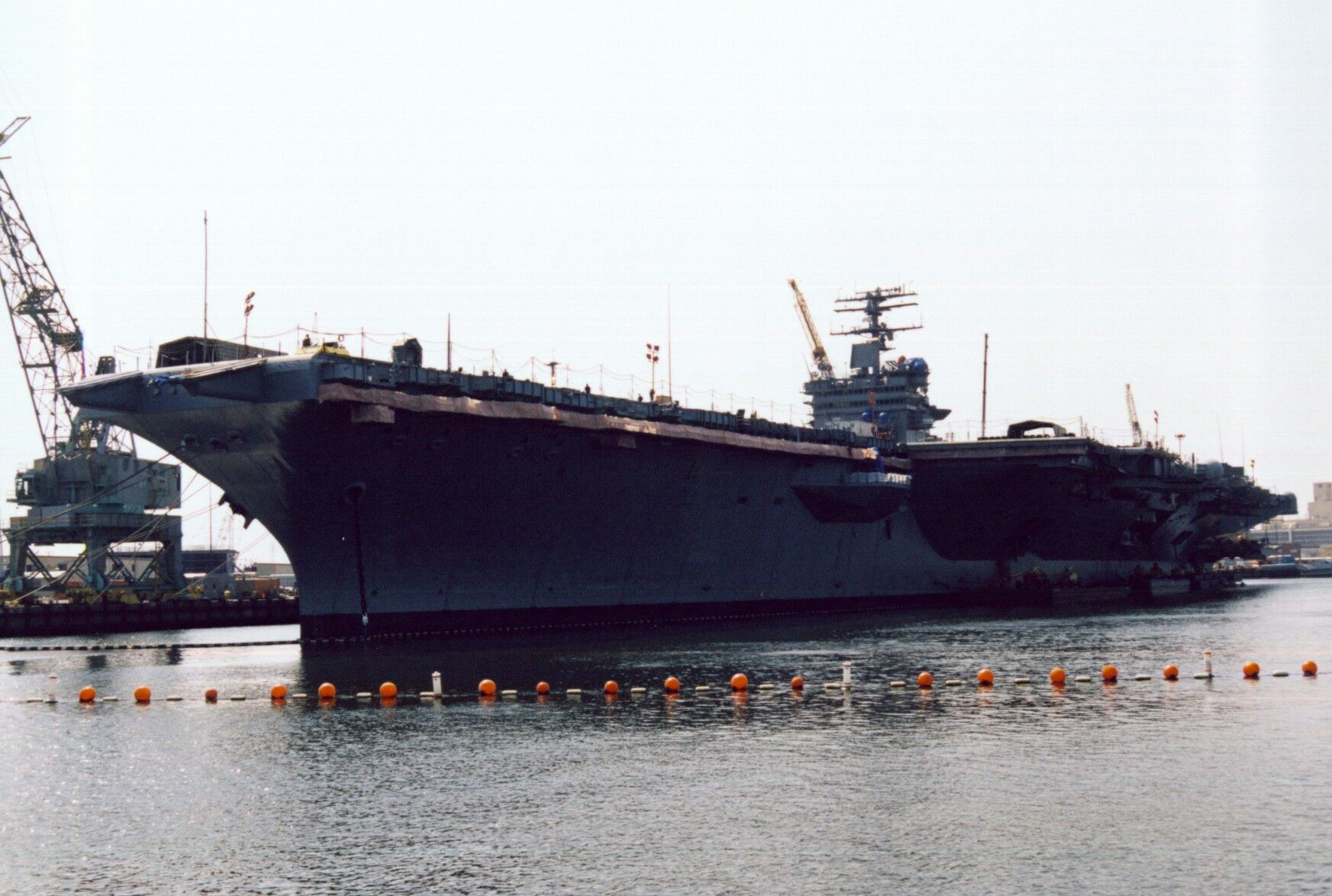 USS Enterprise, CV-65, the Big E, alongside at Norfolk Navy Base in ...