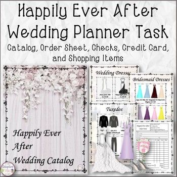 Happily Ever After Wedding Planner Task Life skills and Students - credit card form