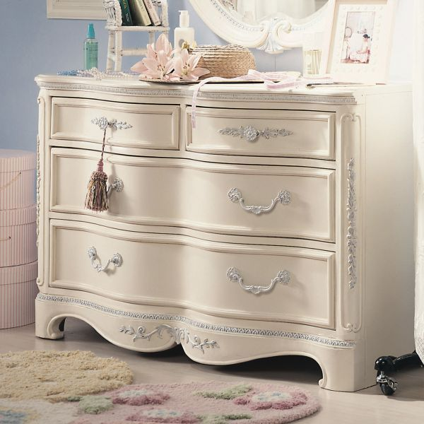 Jessica McClintock Drawer Dresser Antique White by Lea Industries