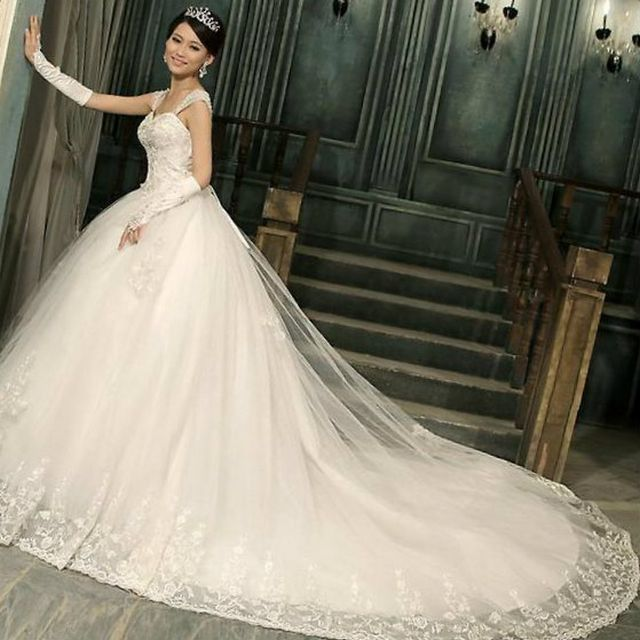 Beautiful Wedding Dresses With Long Trains Jpg 640