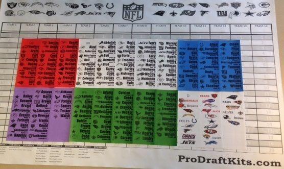 3c8ccdec4a3 2016 Fantasy Football Draft Kit JUMBO 5 X 3 Board 4 X 1 Full Color Labels  Rooks  ProDraftKits