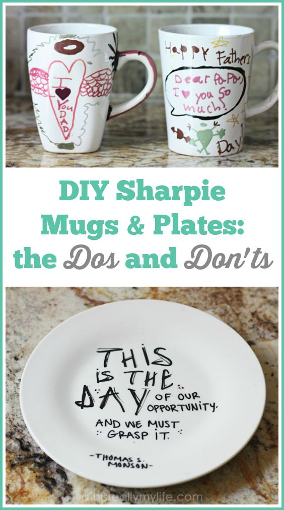 DIY Sharpie Plates & Mugs: How-tos, How-Dos & How-Don'ts! | Half-Scratched