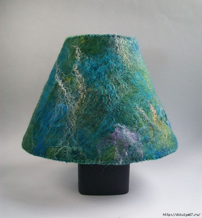 Felt lampshade, unattributed Felted Fiber Art Pinterest