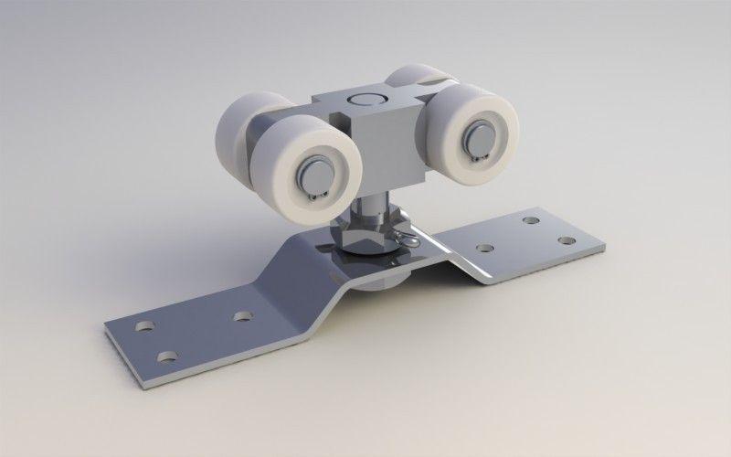 Mechanism for sliding door - SOLIDWORKS,STEP / IGES - 3D CAD
