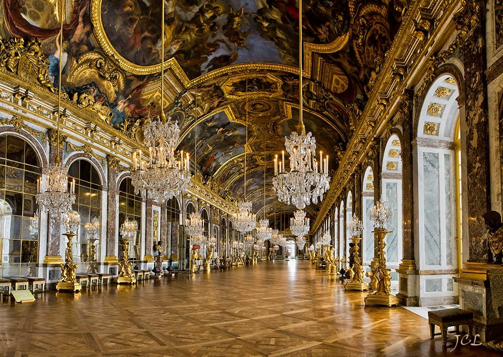Galerie des glaces du ch teau de versailles france palace for Versailles paris