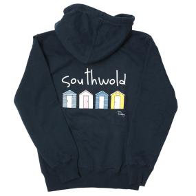Southwold Beach Hut Hoodie - Navy
