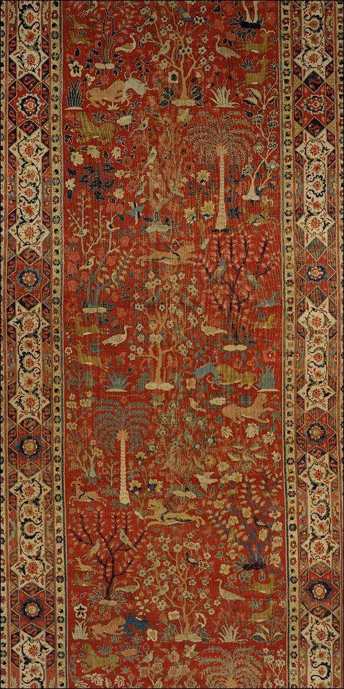 Carpet Mughal Jahangir Period 17s North India Textures