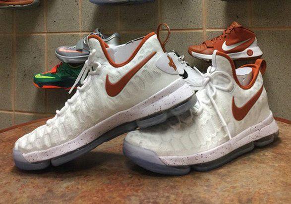 Nike Kevin Durant KD 9 Texas Longhorns Home Size US 7-13  05cb124c0d3d