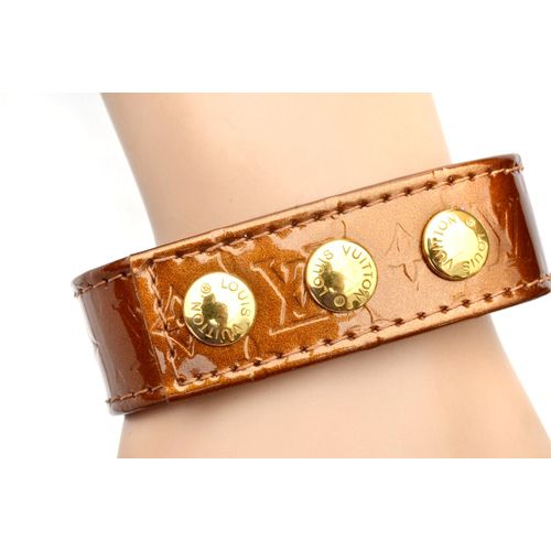 Louis Vuitton Bronze Vernis Snap Button Bracelet