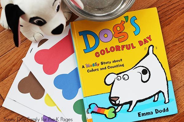 Dog S Colorful Day Color Matching Preschool Color Activities