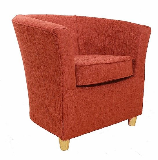 orange bucket chair office without wheels india chenille fabric tub terracotta chairs pinterest