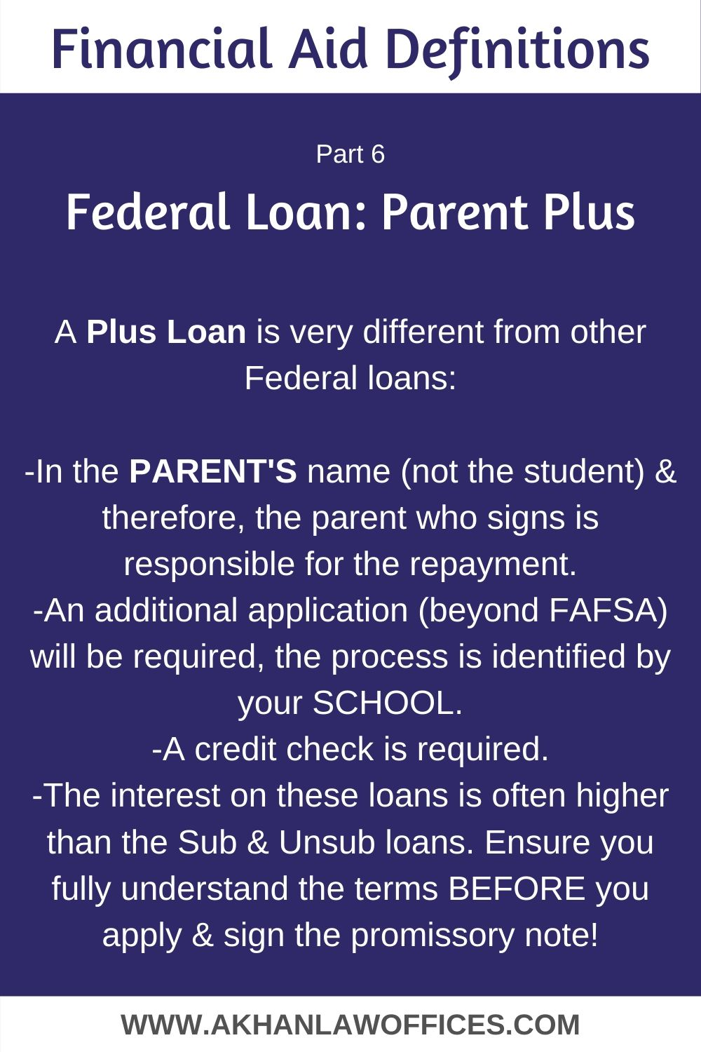 Pin By Khan Law On Bankruptcy Attorney Federal Loans Fafsa Financial Aid