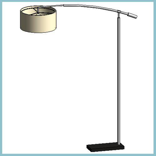 Zaragoza Cream Floor Lamp (Autodesk Revit Architecture ...