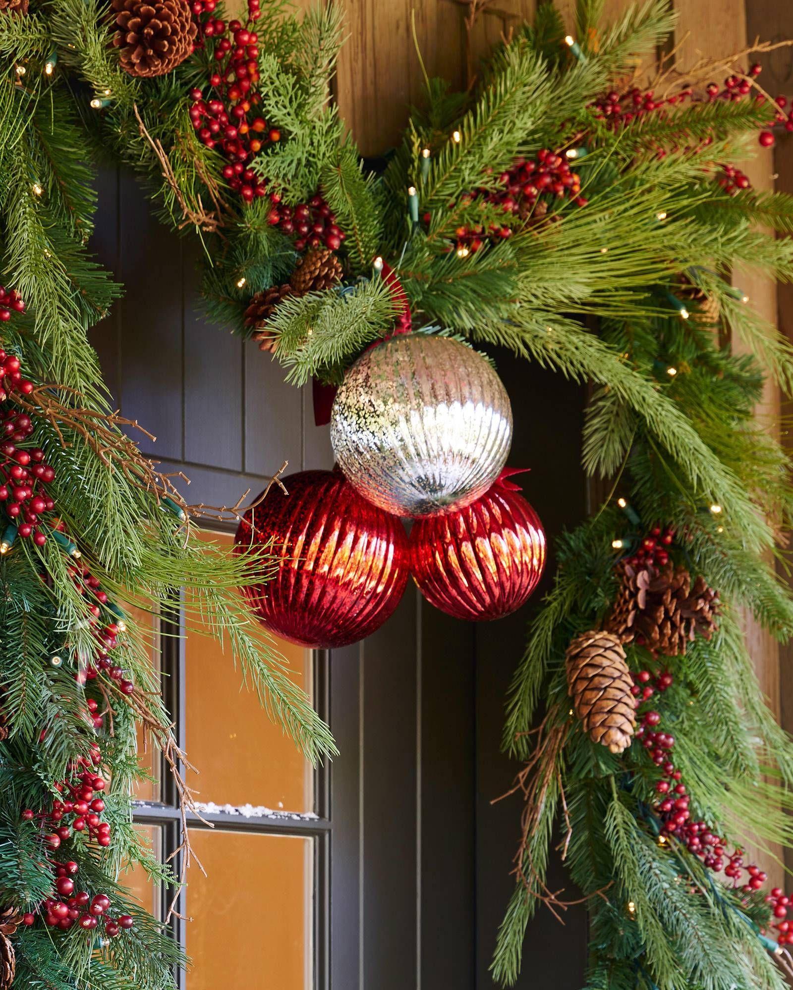 Outdoor Draping Pine Foliage Balsam Hill Artificial Christmas Wreaths Christmas Wreaths Garlands Christmas Wreaths