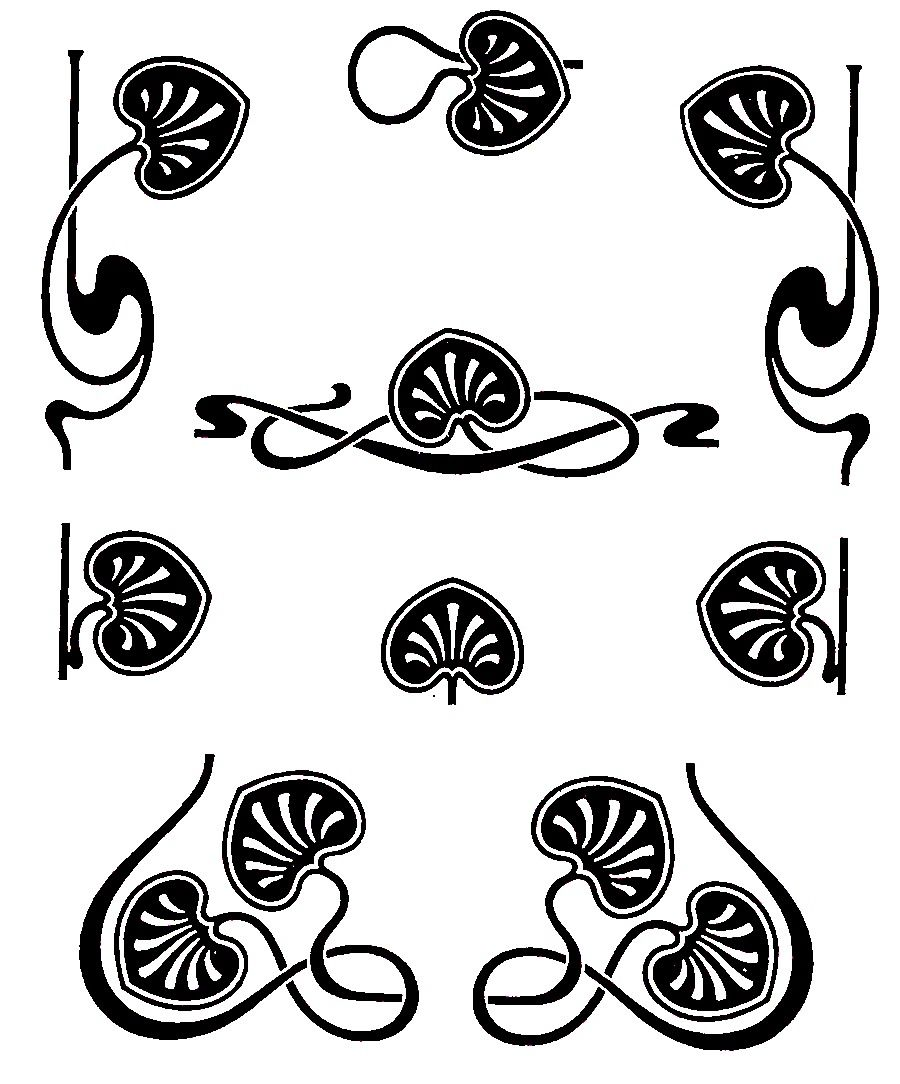 Iona's Closet: Still in Circulation: Art Nouveau Typographic Ornaments