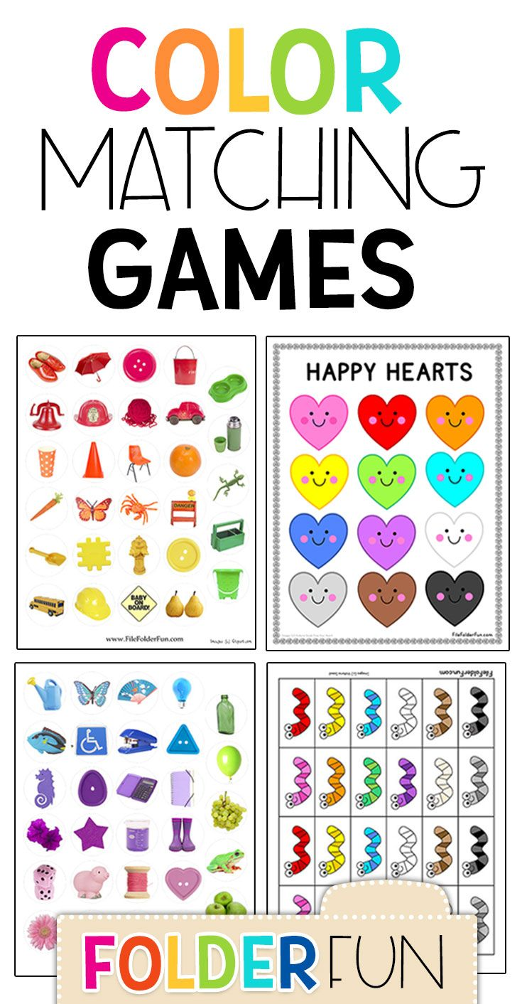 Crayon Color Matching File Folder Game Folder games