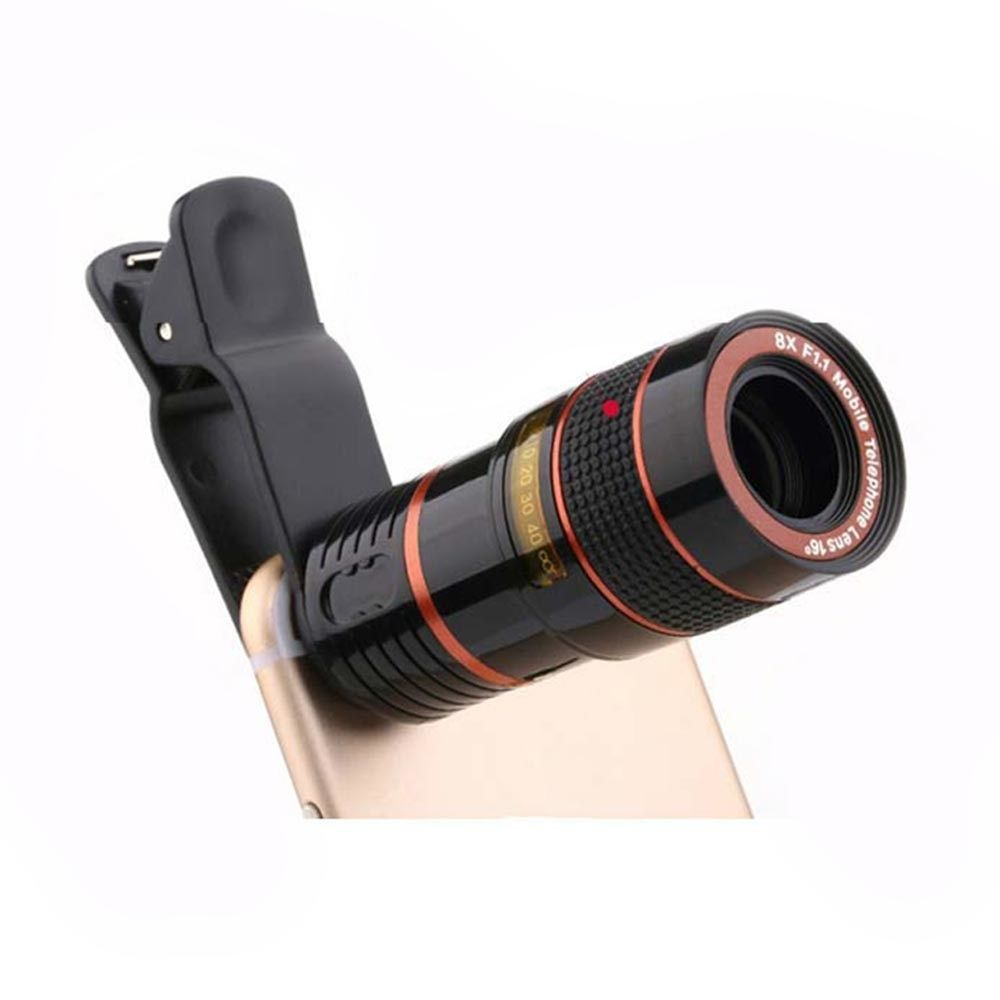 8x 12x Zoom Mobile Phone Telescope Lens Telephoto External