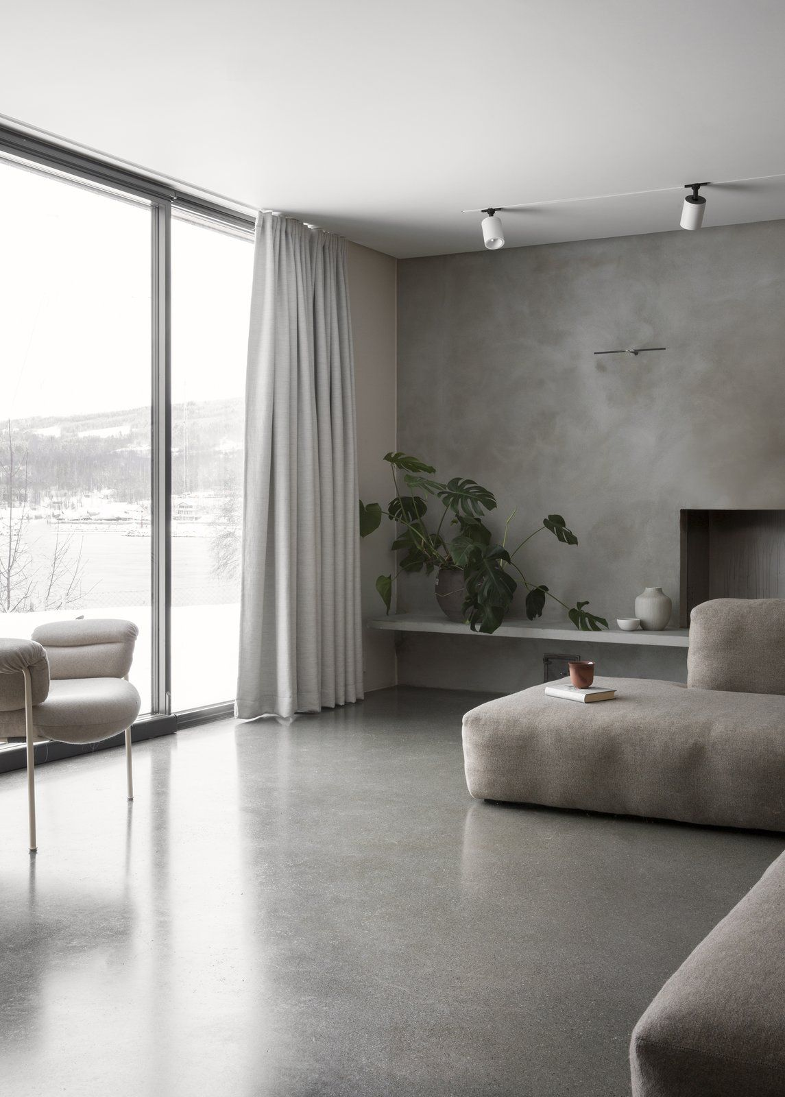 A Cubic Dwelling in Norway Just Oozes Hygge  Concrete interiors
