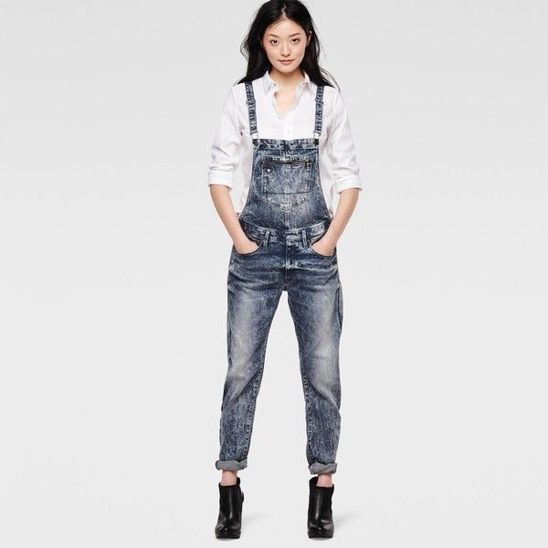 492d919390c G-Star Raw Type C Raw Overall ( 250) ❤ liked on Polyvore featuring jumpsuits