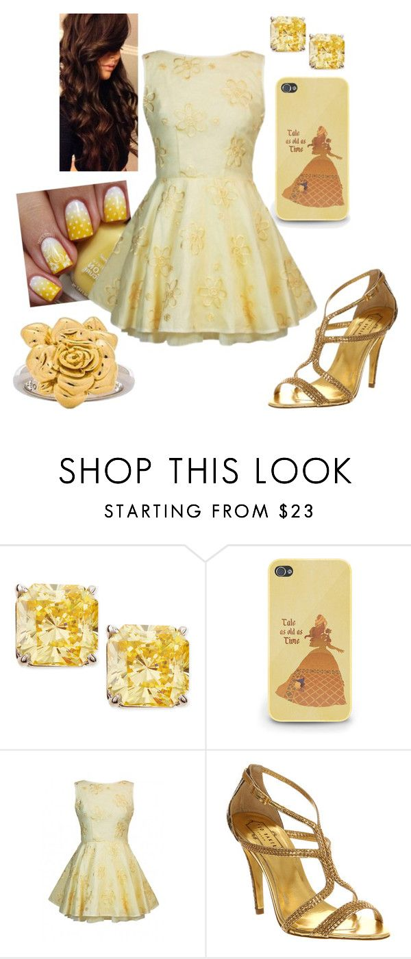 """Disney - Belle"" by briony-jae ❤ liked on Polyvore featuring Fantasia by DeSerio, Jones + Jones, Ted Baker and Marc by Marc Jacobs"