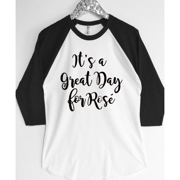 It's a Great Day Rose Baseball Tee ($20) ❤ liked on Polyvore featuring tops, black, tanks, women's clothing, baseball tee shirts, glitter top, rose tops, gold top and raglan baseball t shirt