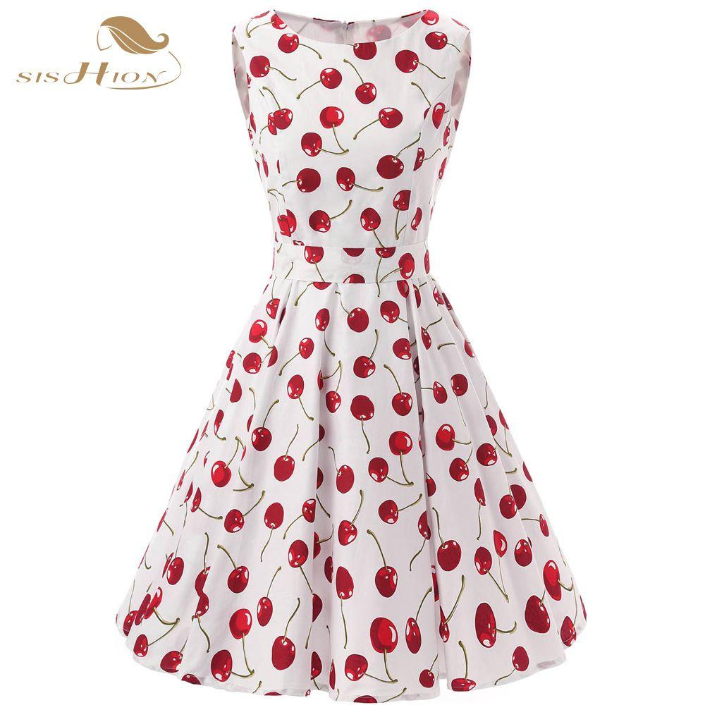 Sishion brand retro vintage dress plus size s s swing rockabilly