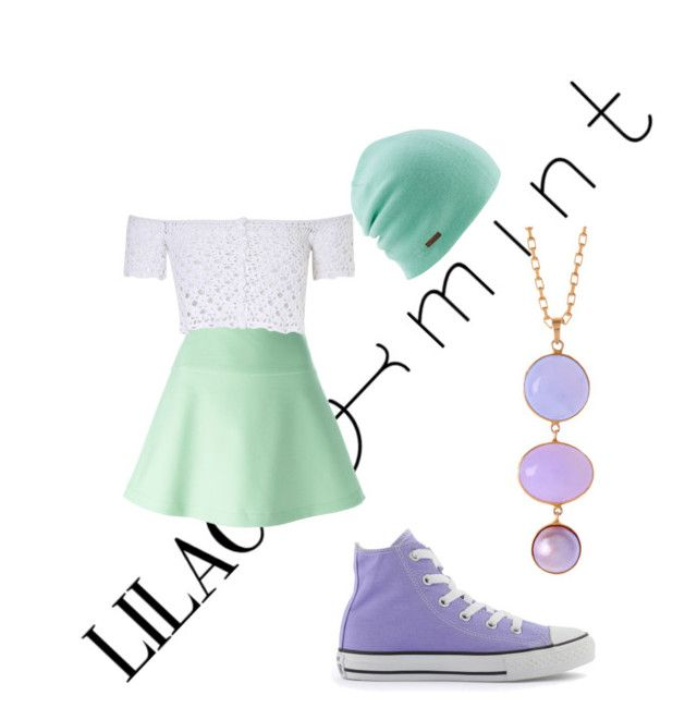 """""""Lilac & Mint CONTEST"""" by imnotclever ❤ liked on Polyvore featuring RED Valentino, Glamorous, Coal, Converse and Alexandra Alberta"""