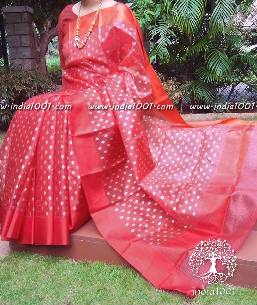 Elegant kota silk saree with khari block print ethnic lovers