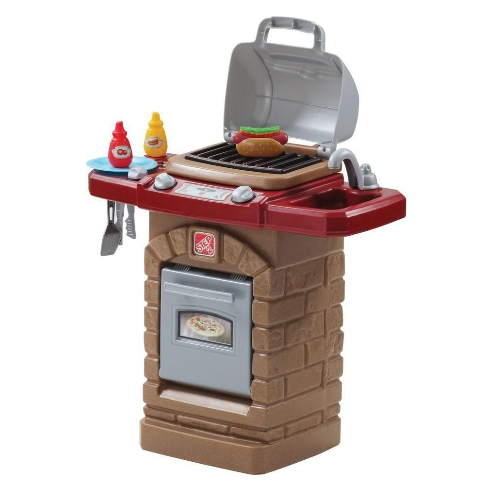 Null fixin fun outdoor grill playset doors for Best kitchen set for 4 year old