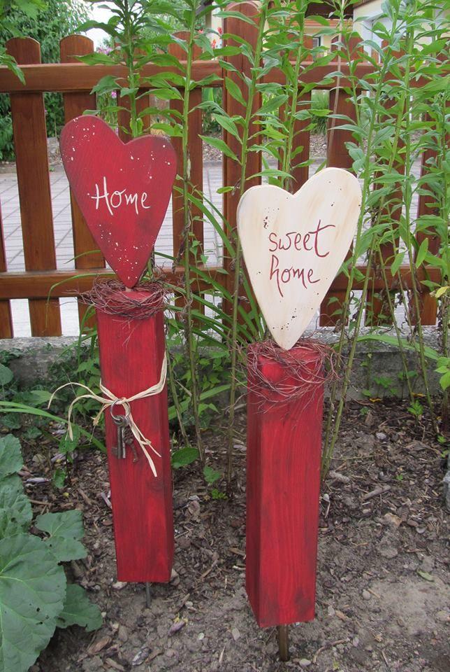 Garten Holzblumen Garten Deko Garten