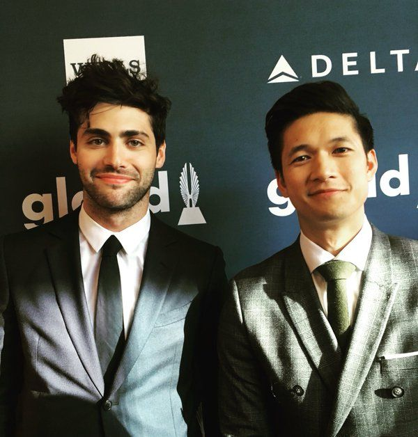 Looking handsome at the #GLAADAwards! #Shadowhunters #Malec