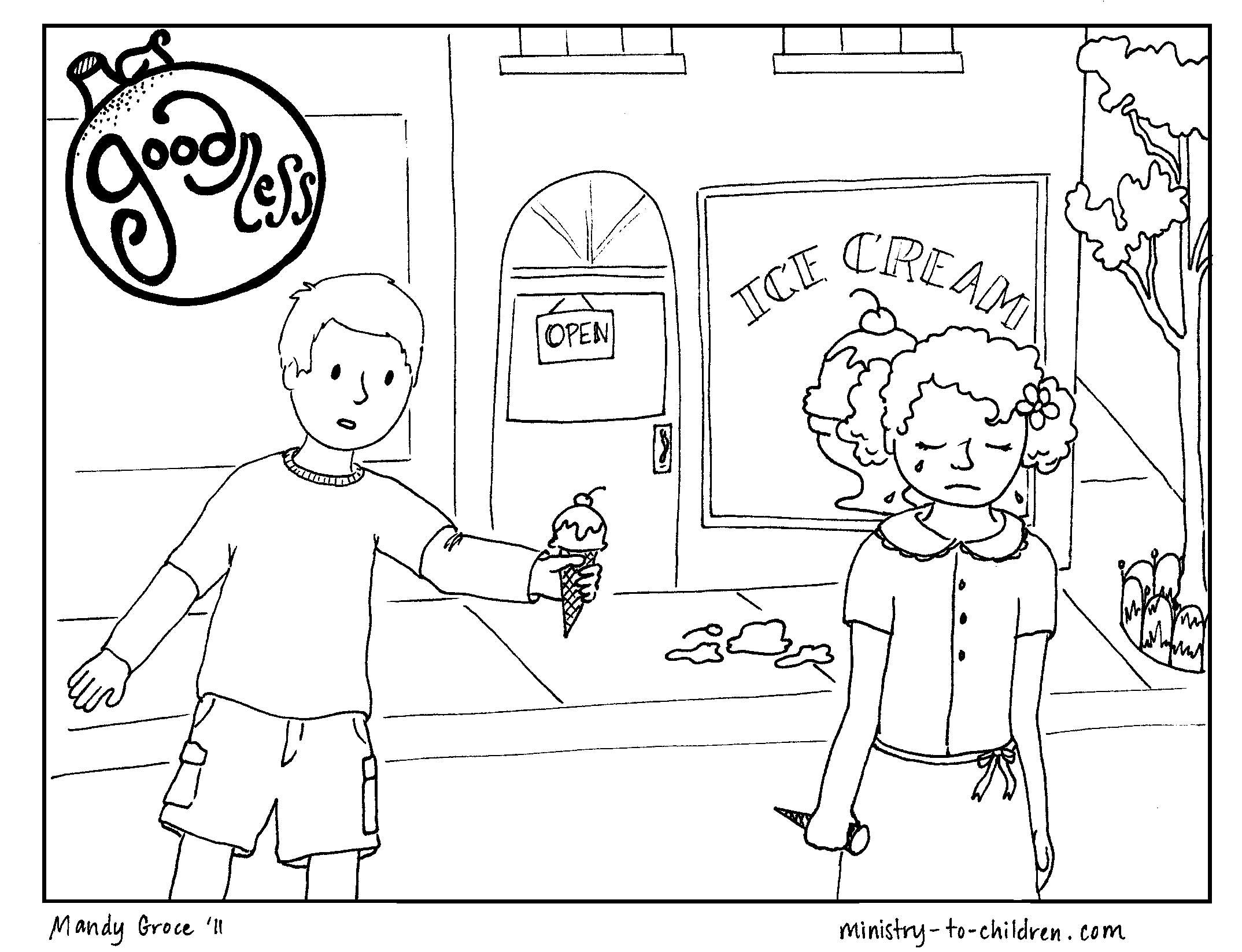 Fruit Of The Spirit Goodness Fruit Of The Spirit Coloring Pages