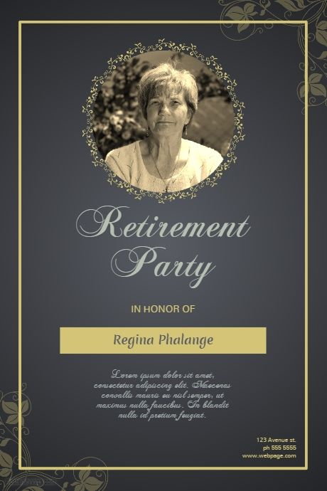 Retirement Party Flyer Template  Postermywall  Event Poster