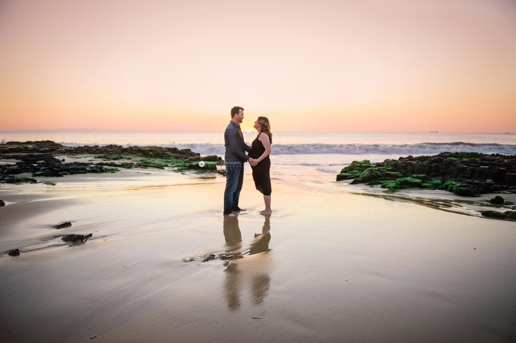 Siobhan and Angus at 35 weeks. Beautiful sunset on the coast of Bunbury, Southwest.
