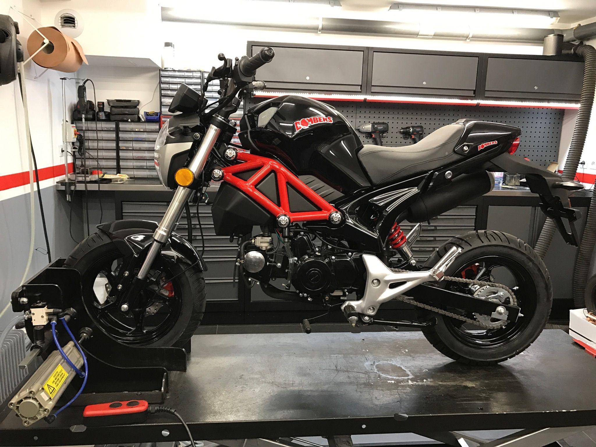mini moto roadster bombers 50cc mini moto bombers pinterest. Black Bedroom Furniture Sets. Home Design Ideas