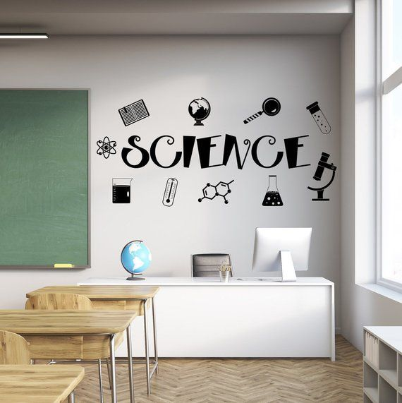 Science Decal Science Wall Decal Classroom Wall Decal Etsy Diy Classroom Decorations Teacher Classroom Decorations Classroom Walls
